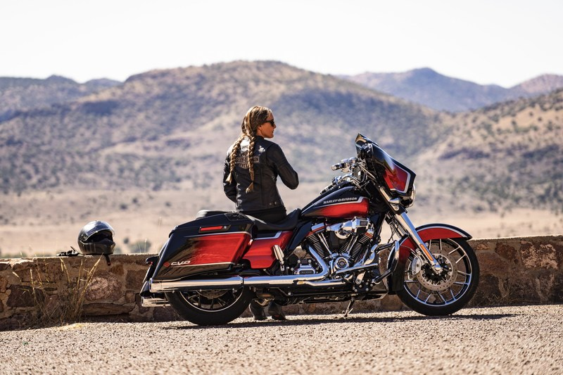 Harley-Davidson offers motorcycle riders more performance, style, technology and freedom for the soul in 2021.& Visit www.H-D.com to learn more about how Harley-Davidson is fueling the& timeless pursuit of adventure and freedom for the open road. CVO Street Glide shown.