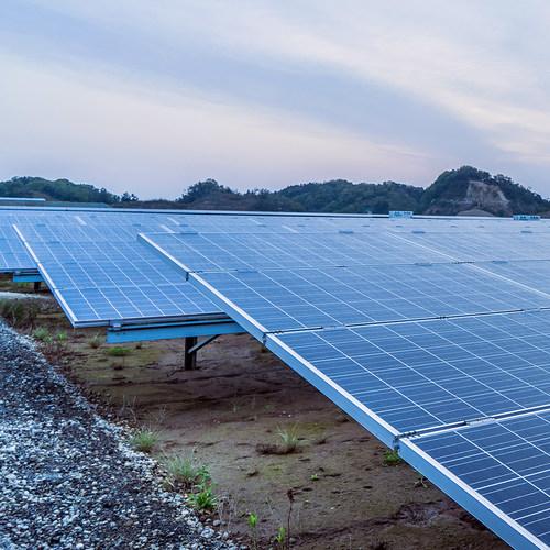 Pattern Energy's Futtsu Solar Power Facility in Futtsu-shi, Chiba, Japan.
