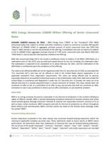 MEG Energy Announces US$600 Million Offering of Senior Unsecured Notes (CNW Group/MEG Energy Corp.)
