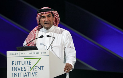 H.E. Yasir Al-Rumayyan, Governor of Saudi Arabia's Public Investment Fund and FII Institute Chairman, speaking at the opening of the 3rd Edition of FII on 29 October 2019