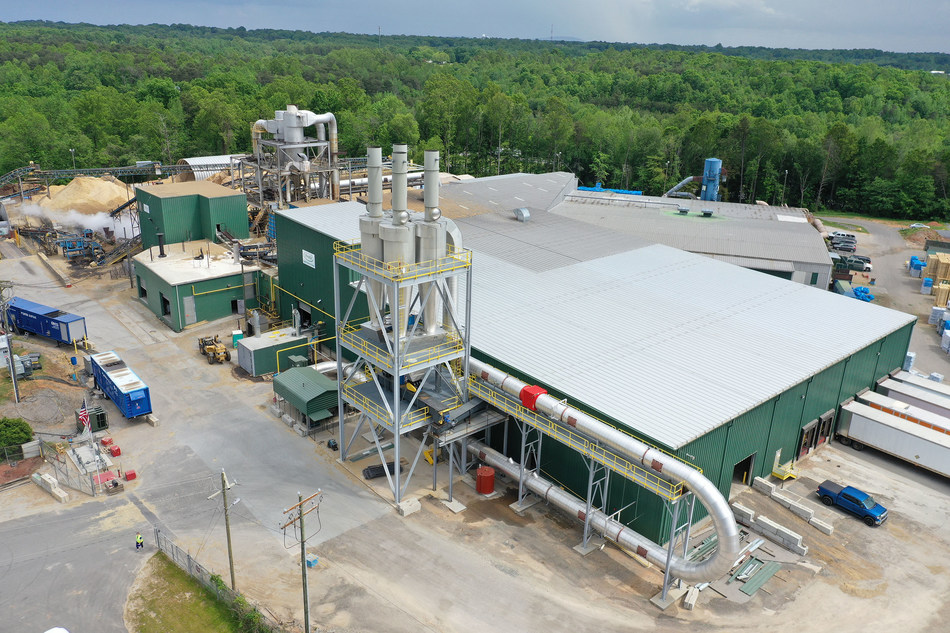 An overhead view from Profile's 2019 Conover, North Carolina plant expansion.