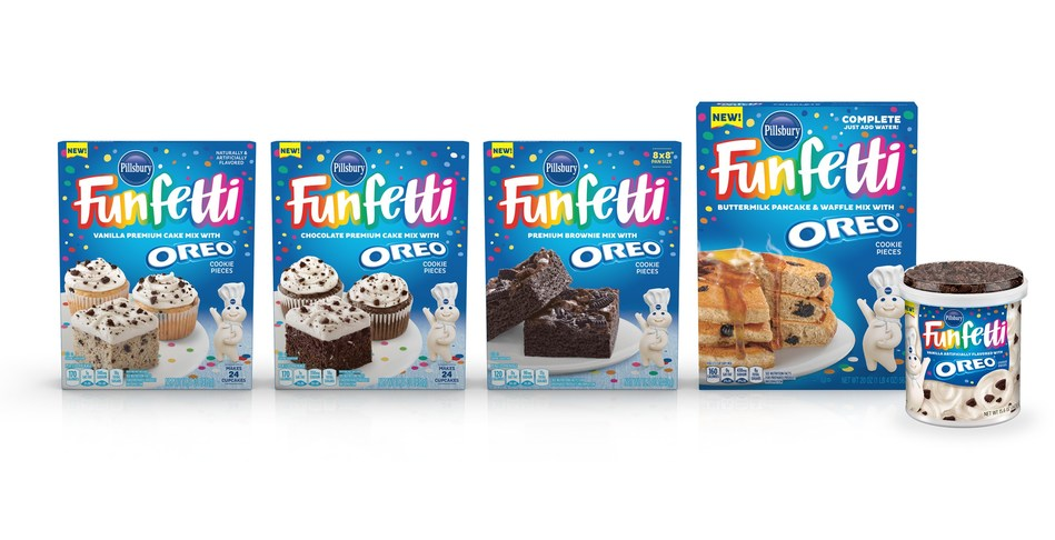 Bringing Two Iconic and Beloved Brands Together, Pillsbury Baking Launched New Funfetti® OREO® Baking Products.