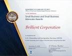 Brillient Earns DHS Small Business Award for the 2nd Time...