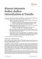 Kincora intersects further shallow mineralization at Trundle