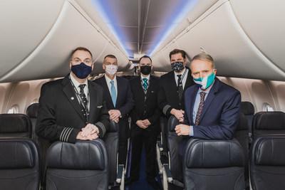 Reprise du service des appareils 737 MAX de WestJet (Groupe CNW/WESTJET, an Alberta Partnership)