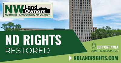 January 21, 2021 Northwest Landowners Association (NWLA) WINS Lawsuit against State of North Dakota and Continental Resources, Inc. over Unconstitutional Taking of Private Property