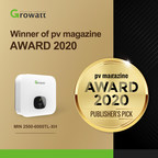 Growatt recibe el pv magazine award 2020 for its new generation inverter