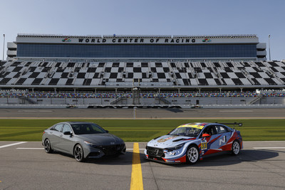 North American unveiling of the Hyundai Elantra N TCR with the North American Car of the Year Hyundai Elantra