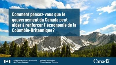 Le gouvernement du Canada explore de nouvelles approches quant au développement économique régional dans l'Ouest canadien (Groupe CNW/Diversification de l'économie de l'Ouest du Canada)