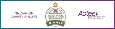 La technologie Acteev de Ascend Performance Materials remporte un prix pour sa fonctionnalité de la catégorie « Innovation Awards » lors du salon professionnel Outdoor Retailer 2021. (PRNewsfoto/Ascend Performance Materials)