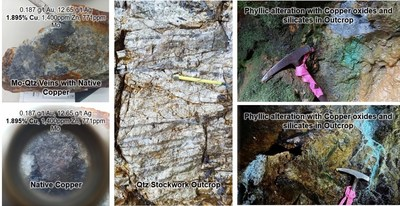Figure 6. Examples of rock samples from Shakai. (CNW Group/Luminex Resources Corp.)