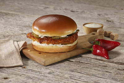 Inspired by the legendary and complex flavor profile of Music City's trademark hot sauce, the Nashville Hot Crispy Chicken Sandwich features a breaded chicken breast with smoky Nashville Hot sauce, pickles and ranch dressing on a brioche bun, and is available at Boston Market restaurants nationwide for a limited time. Visit www.BostonMarket.com to learn more, place an order for takeout or delivery, or to find your nearest restaurant.