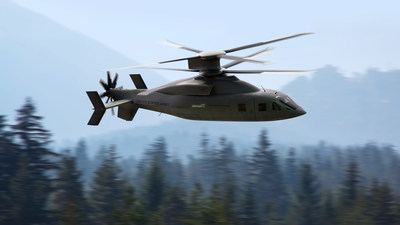 Sikorsky and Boeing released details of the DEFIANT X helicopter designed for the U.S. Army. With its rigid coaxial rotor system and pusher propeller, DEFIANT X will provide the U.S. Army with increased speed, maneuverability and survivability. Image courtesy Sikorsky and Boeing.