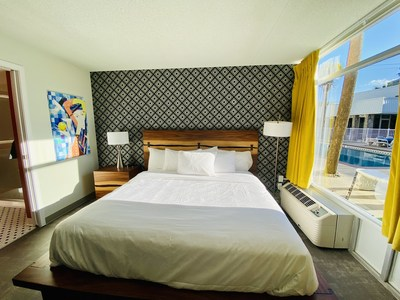 Typical renovated guestroom.