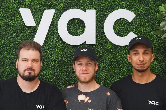 Yac Inc. co-founders, Justin Mitchell, Hunter McKinley and Jordan Walker