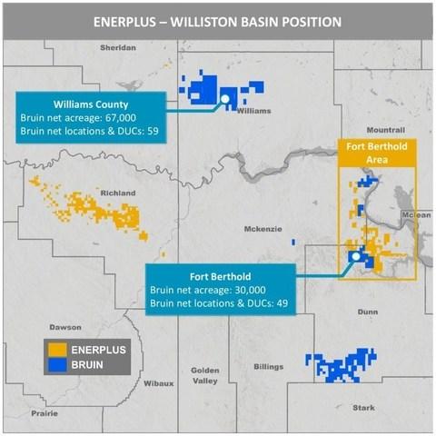 Enerplus Bruin Williston Basin Map (CNW Group/Enerplus Corporation)