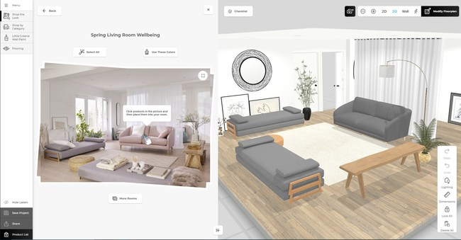 """John Lewis 3D Room Planner with """"Design from Photo"""""""
