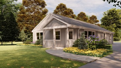 The world's first permitted 3D printed house for sale, built by SQ4D.