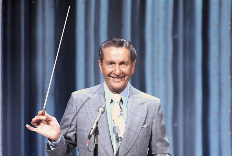 Famous television bandleader Lawrence Welk, host of The Lawrence Welk Show from 1951 to 1982, and beloved namesake of Welk Resorts.