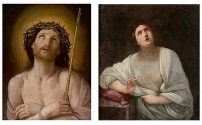 Guido Reni's Ecce homo (left) is being offered in New York by Sotheby's, and his Cleopatra (right) is being offered in Toulouse by Marc Labarbe, both on 28 June 2021