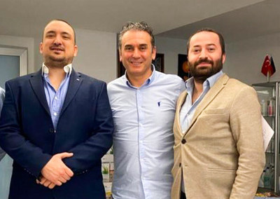 (ltr):  Erdal Can Alkoclar, Ahmet Kılıc (Chairman of ActoPharma), Goksel Gursoy (CEO of Spektral Holding B.V)