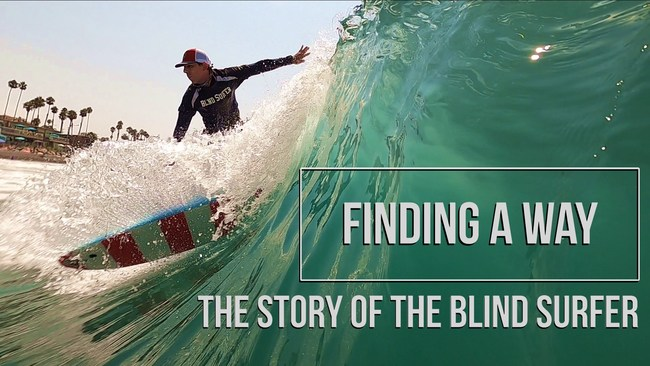"""""""Finding a Way"""" Blind Surfer Documentary - Cover"""
