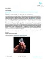 Lucara Recovers 378 Carat Top White Gem Diamond from the Karowe Mine In Botswana (CNW Group/Lucara Diamond Corp.)