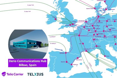 Telia Carrier and Telxius expand global connectivity from North America to Europe with Derio Communications Hub in Bilbao