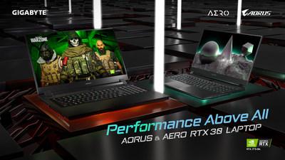 Las computadoras portátiles RTX Serie 30 de GIGABYTE ya están a la venta con una impresionante cantidad de compras en preventa a nivel mundial (PRNewsfoto/GIGABYTE)