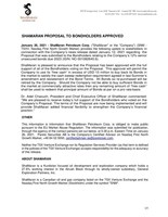 ShaMaran Proposal to Bondholders Approved (CNW Group/ShaMaran Petroleum Corp.)
