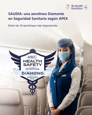 Saudi Arabian Airlines (SAUDIA) recibe la Insignia Diamante por seguridad sanitaria en sus vuelos