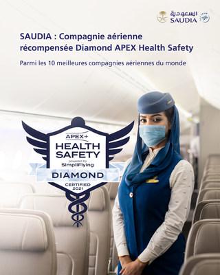 Saudi Arabian Airlines (SAUDIA) reçoit le statut diamant pour la sécurité sanitaire de ses vols