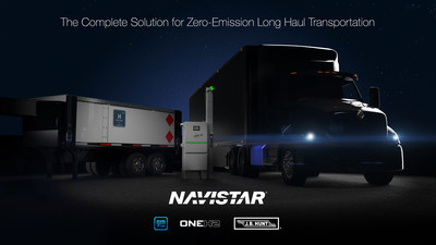 Navistar collaborates with General Motors and OneH2 to introduce a complete hydrogen solution for a zero-emission long haul transportation system.