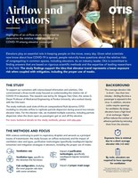 Otis Releases Elevator Airflow Study Findings: COVID-19 Exposure on Elevator Ride is Low Risk with Simple Mitigation