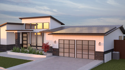 Home with solar and battery storage