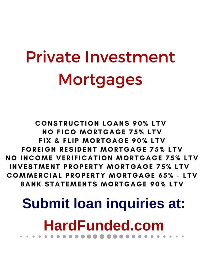 Hard Money & Private Investment Loans