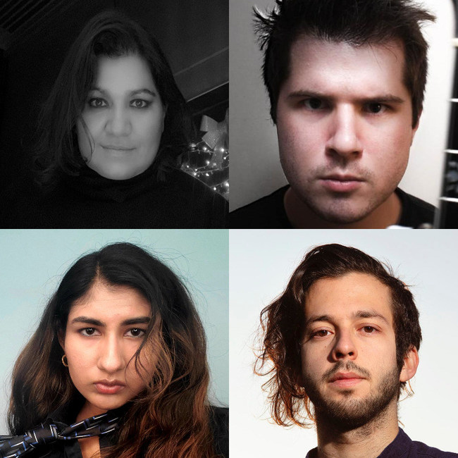 The resident composers for the 2021 Mizzou International Composers Festival are, clockwise from top left, Ana Paola Santillán Alcocer, Daniel Fitzpatrick, Paul Mortilla and Nina Shekhar