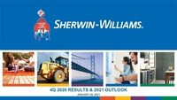 The Sherwin-Williams Company Reports 2020 Year-end and Fourth Quarter Financial Results