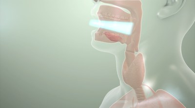 EmitBio: Precise wavelengths of safe, visible light delivered to the back of the throat