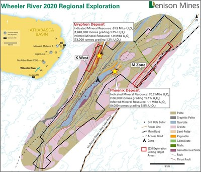 Figure 1 – Wheeler RIver 2020 Regional Exploration (CNW Group/Denison Mines Corp.)
