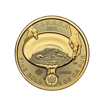 Moeda de ouro puro da Royal Canadian Mint marca o 125º aniversário da famosa corrida do ouro de Klondike (CNW Group/Royal Canadian Mint)