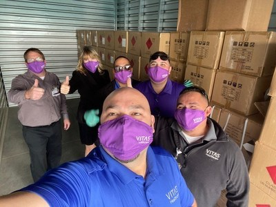 VITAS Healthcare welcomed more than 50,000 healthcare supplies - including face masks and hand sanitizer - from AT&T on January 26, 2021.