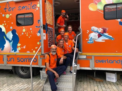 Overland for Smile (ONLUS) has operated a mobile dental practice since 2005. Teams of ten doctors and support staff each, travel regularly throughout Eastern Europe to provide dental care to orphanages.  (Source: Overland for Smile (ONLUS))