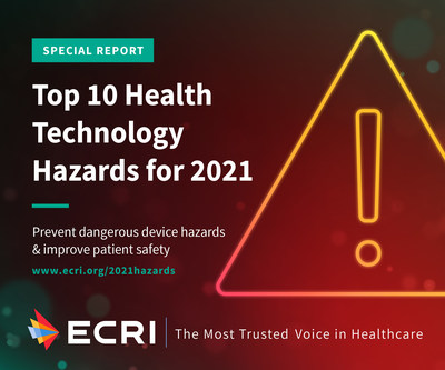 ECRI, an internationally respected safety leader, issues its annual Top 10 Health Technology Hazards report to guide healthcare leaders on safety priorities for 2021. The independent organization lists the complexity of managing devices that have been authorized through the Emergency Use Authorization (EUA) process at the top of its list. Visit www.ecri.org/2021hazards to download the report.