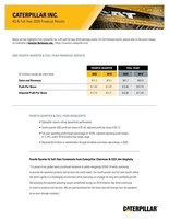 Caterpillar Reports Fourth-Quarter and Full-Year 2020 Results