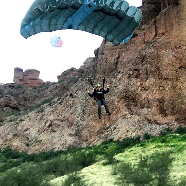Base Jump Tristan Wimmer