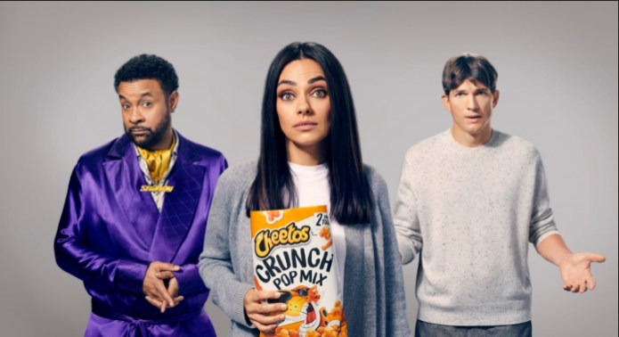 Cheetos Crunch Pop Mix Steals the Spotlight with Super Bowl Ad Featuring Ashton Kutcher, Mila Kunis and Shaggy