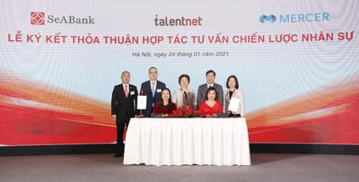 SeABank signed with leading consulting partner Talentnet - Mercer for consultancy in human resource management and development.