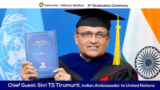 TS Tirumurti, Ambassador of India to United Nations (PRNewsfoto/University of Silicon Andhra)