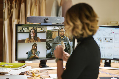Look and sound your best with the Poly Studio P15 Personal Video Bar with premium features like automatic camera framing and advanced NoiseBlockAI technology.